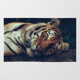 live like a tiger Rug