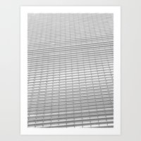 gray pattern Art Prints featuring Gray Pattern by theGalary