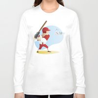 baseball Long Sleeve T-shirts featuring Baseball! by Dues Creatius