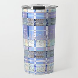 Abstract pattern with lace decorative bands. Travel Mug