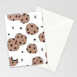 Chocolate chip cookie jar illustration pattern Stationery Cards