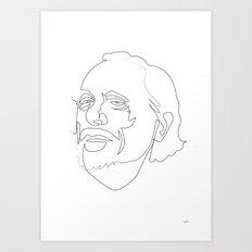 One Line Charles Bukowski Art Print