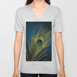 exotic feather  Unisex V-Neck