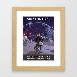 Mass Effect 3- Infiltrator Propaganda Framed Art Print