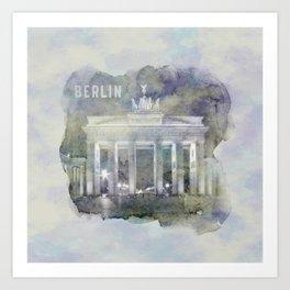 BERLIN Brandenburg Gate | watercolor Art Print