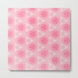 Pink and White Pattern Metal Print