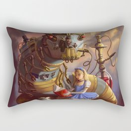 Sandra's Steampunk Alice in Wonderland Rectangular Pillow
