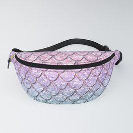 Mermaid Scales on Unicorn Girls Glitter #1 #shiny #pastel #decor #art #society6 Fanny Pack