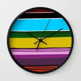 Serape 2 Wall Clock