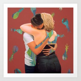 Bec and Isa Art Print