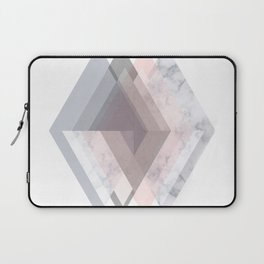 BLUSH MARBLE GRAY SCANDINAVIAN GEOMETRIC Laptop Sleeve