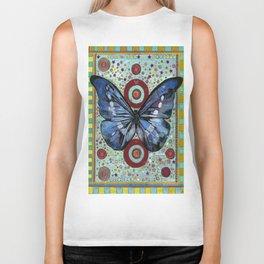 """Big Blue Butterfly"" copyright Ray Stephenson 2013 Biker Tank"