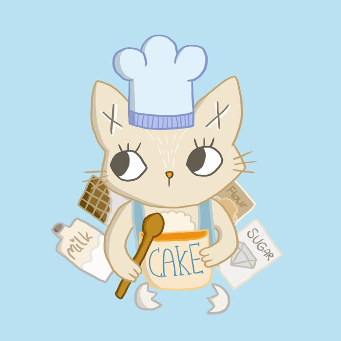 Cat is baking a Cake Comforters