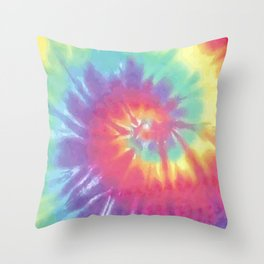 Faded Spiral Tie Dye Throw Pillow