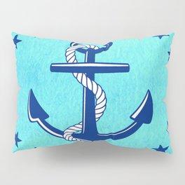 Nautical Anchor with Stars Pillow Sham