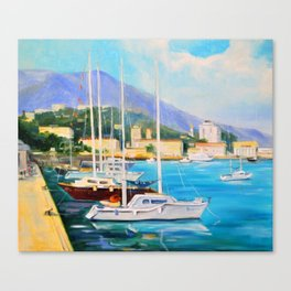 Boat dock Canvas Print