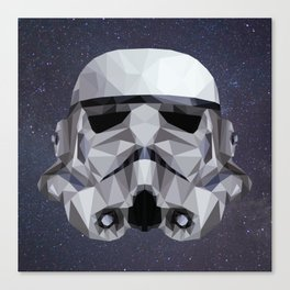 Low Poly Stormtrooper Canvas Print