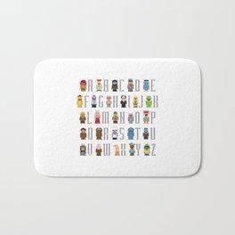 Pixel Muppet Show Alphabet Bath Mat