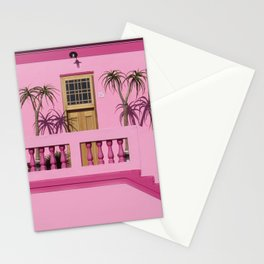 Cape Malay pink house Stationery Cards