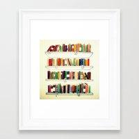books Framed Art Prints featuring Books by Ela Caglar
