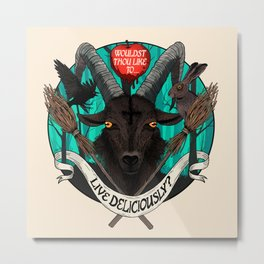 Live Deliciously Ram Metal Print
