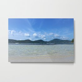Down at Wave Level Metal Print