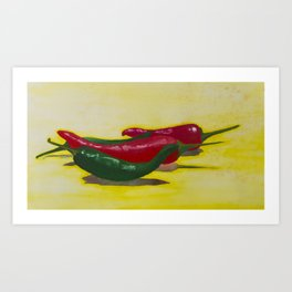 Chillis Art Print