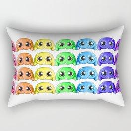 Bitty Rainbow Monsters Rectangular Pillow