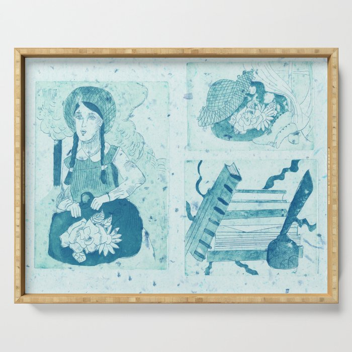 Anne of Green Gables Blue Serving Tray