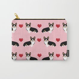 Corgi tri colored welsh corgi dog person corgis love valentines day gifts for dog person Carry-All Pouch