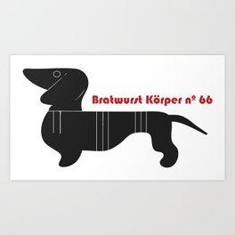 Bratwurst Körper  Art Print