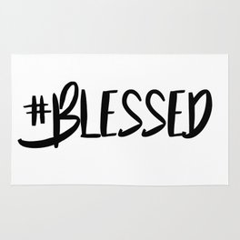 Hashtag blessed Rug