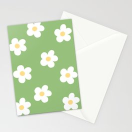 Retro 60's Flower Power Print Stationery Cards