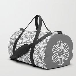 Field of daisies - gray Duffle Bag