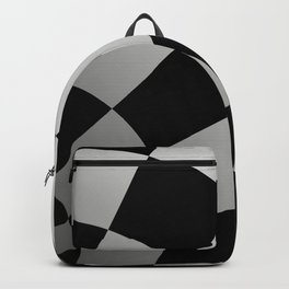 Black and White Chessboard Pattern Optical Illusion Vortex 3D Backpack
