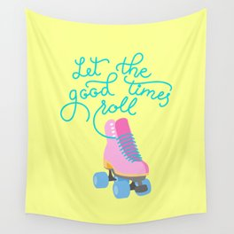 Let The Good Times Roll (Yellow Background) Wall Tapestry