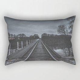 Dark Tracks Rectangular Pillow