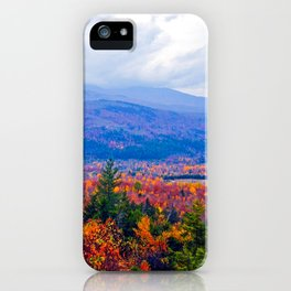 Brilliant Fall Colors at Ira Mountain in Kingfield, Maine (2) iPhone Case