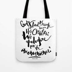 God's Final Message book quote design Tote Bag