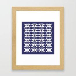 Oh, deer! in paddle blue Framed Art Print