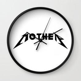 Metal Mother Wall Clock