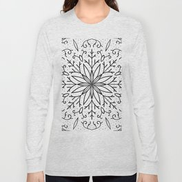 Single Snowflake - White Long Sleeve T-shirt