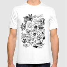 3am Thoughts Club Mens Fitted Tee White SMALL