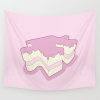 cake Wall Tapestries featuring Piece of Cake by Robert Broersma