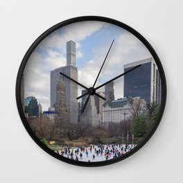 Winter in Manhattan Wall Clock
