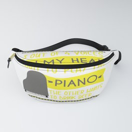 Piano Pianoman Classical Music Music Teacher Fanny Pack