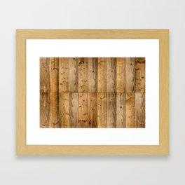 Wood Planks Dark Framed Art Print