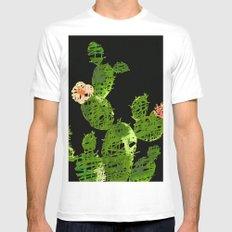 weird cactus black version White MEDIUM Mens Fitted Tee