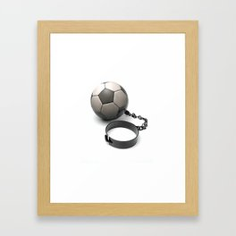 Soccer Prisoner Framed Art Print