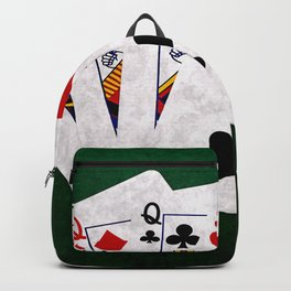 Poker Hand Full House Queen Nine Backpack